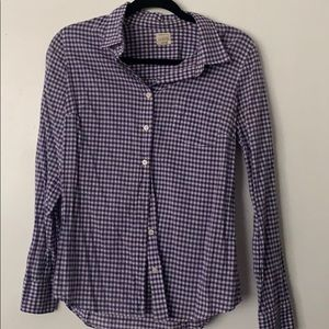 J CREW PURPLE GINGHAM SHIRT